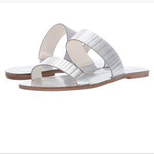 NWT Dolce Vita Leather Sandal silver metallic